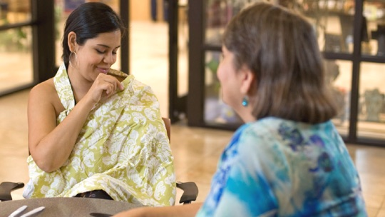 Be confident when nursing in public.