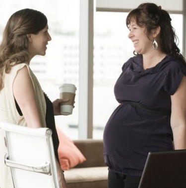 Share the Mother-Friendly business benefits with your boss or HR person.
